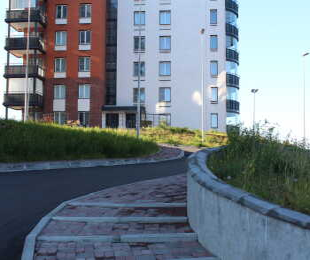 Прогулочные дорожки в жилом комплексе Малая Финляндия